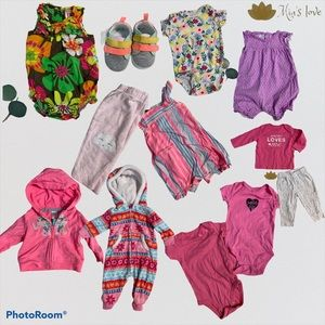 Carter's Lot clothing baby girls size 3 m